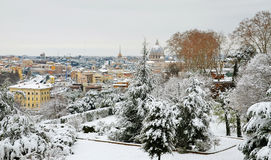 Rome under snow Royalty Free Stock Image