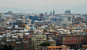 Rome under snow Royalty Free Stock Images