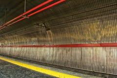 Rome underground train station Stock Images