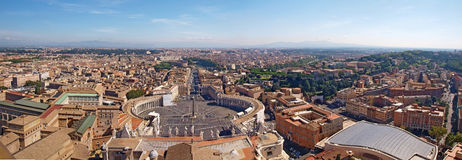 Panorama van Rome van St. Peter Basiliek Royalty-vrije Stock Foto's