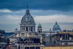 Rome varied antique  architecture ruins ItalyVatican City Stock Photo