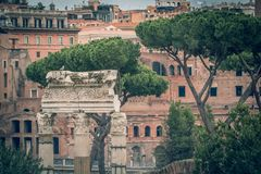 Rome varied antique  architecture ruins ItalyVatican City Stock Photos