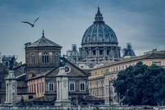 Rome varied antique  architecture ruins ItalyVatican City Royalty Free Stock Photography