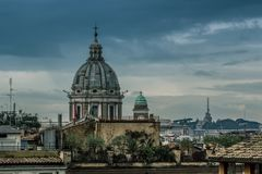 Rome varied antique  architecture ruins ItalyVatican City Royalty Free Stock Photos