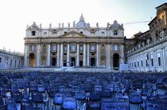rome vatican Квадрат ` s St Peter после массы стоковое изображение