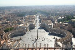 Rome, Vatican. San pietro square from Rome Royalty Free Stock Image