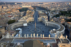 Rome in Vatican. St. Peter's Square from Rome in Vatican Royalty Free Stock Photography