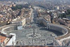 rome vatican Arkivfoton
