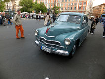 ROME, VATICAN - April 27, 2014: Over 60 Letnii car Royalty Free Stock Photo