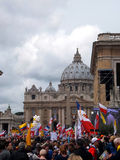 ROME, VATICAN - April 27, 2014: St. Peter's Square, a celebratio Stock Photo