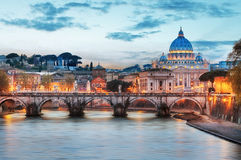 Rome - Vatican city at night Stock Image