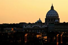 Rome: Vatican city: St. Peter's Basilica Royalty Free Stock Photos