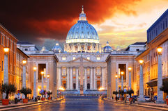 Rome, Vatican city. At sunrise royalty free stock photos