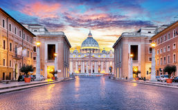 Rome, Vatican city. At sunrise stock image