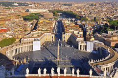 Rome, Vatican City. Top view Royalty Free Stock Image