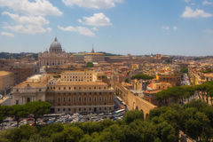 Rome and the Vatican cityscape, Italy. Landscape of the Vatican with the basilica and other buildings, Italy Royalty Free Stock Images