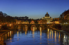 Rome and Vatican at Night Stock Images