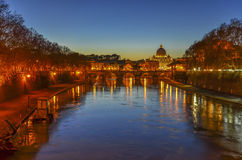 Rome and Vatican at Night Stock Photography