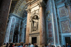 Rome. The Vatican, Saint Peter's Cathedral. Stock Photo