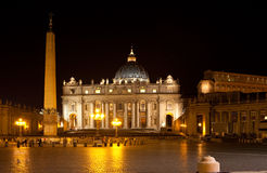 Rome. Vatican. Saint Peter's Square at night Stock Photos
