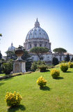 Rome. Vatican. St Peter s Basilica in a sunny day Stock Images