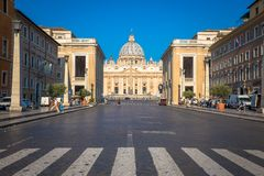 Cupola of Saint Peter Cathedral in Vatican royalty free stock image