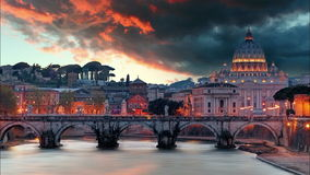 Rome - Vatican at sunset, time lapse.  stock footage