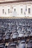 Rome Vaticanen, ITALIEN, 12 September: Basilika för St Peter ` s på Vatican City, `-Basilika di San Pietro ` och fyrkant i morgon arkivfoton