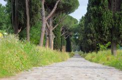 Rome Via Appia Antica Royalty Free Stock Photos