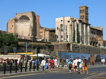 Rome, Via dei Fori Imperiali Stock Photos