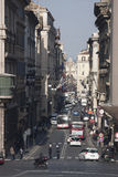 rome Via del Corso, historisk mitt Royaltyfria Foton