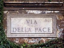 Rome, via della Pace Stock Image