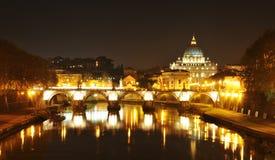 Rome vid natt Fotografering för Bildbyråer