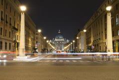 Rome vid natt royaltyfri fotografi