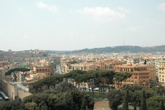 Rome view. Digital photo of the skyline of Rome royalty free stock photos