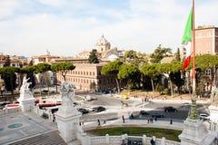 Rome, view from Altare Della Patria, Italy Stock Image