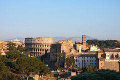 Rome. View on the Colosseum in Rome, Italy Royalty Free Stock Image