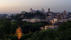 Rome view at dusk Royalty Free Stock Image