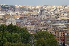 Rome. View from the hill of Gianicolo. View of Rome from the hill of Gianicolo Royalty Free Stock Photography