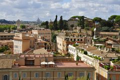 Rome. View from Palatine Hill towards St. Peter`s basilica Royalty Free Stock Photos