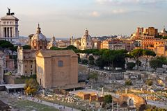 Rome, view from the Palatine Stock Photography