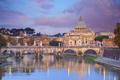 Rome. View of St. Peters cathedral in Rome, Italy Royalty Free Stock Image