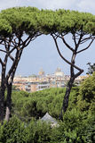Rome view from Via Appia Antica Royalty Free Stock Photos