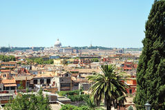 Rome - view from Villa Borghese. Rome, Itlay as seen from Villa Borghese Royalty Free Stock Photography