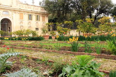 Rome, Villa Borghese Park. Villa Borghese is the largest public park in Rome. It offers a pleasant refuge from the often hectic streets in the city. The park Royalty Free Stock Image