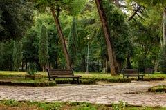 Rome, Villa Lais autumn day. stock photo