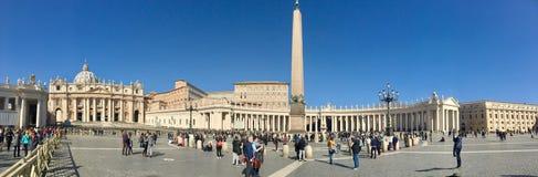 Rome, Ville du Vatican, place du ` s de St Peter Photos stock