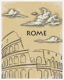 Rome vintage poster travel Stock Images