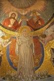 Rome - Virgin Mary - Santa Prassede church. Rome - mosaic of Virgin Mary from apse of Santa Prassede church Stock Photos