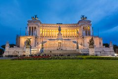 Rome - Vittorio Emanuele Monument - Italy Stock Photo